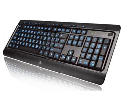 AZIO Large Print Tri-Color Illuminated Keyboard KB505U