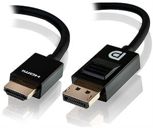 Alogic 3 Meter Display Port to HDMI Cable - Male to Male