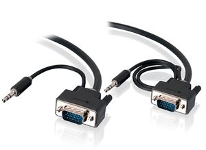Alogic 3 Meter VGA + 3.5mm Stereo Audio M/M Monitor Cable