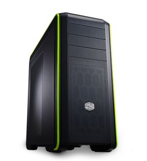 Cooler Master CM693 III Mid Tower Case - Black/Green Edition