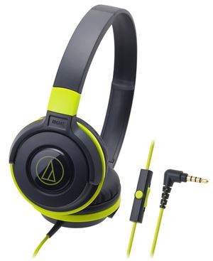 Audio-Technica ATH-S100IS Portable DJ Style Headphones With Mic - Green