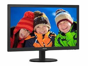 """Philips 243V5QHABA 23.6"""" Full-HD LED Desktop Monitor with Speakers"""