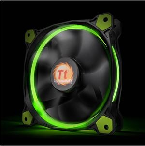 Thermaltake Riing 120mm Green LED 1500 RPM Fan - CL-F038-PL12GR-A