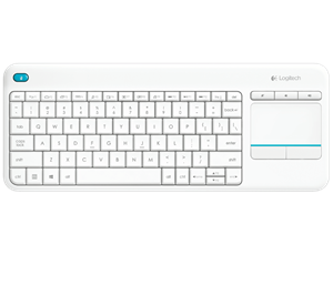 Logitech K400 Plus Wireless Keyboard with Touchpad - White
