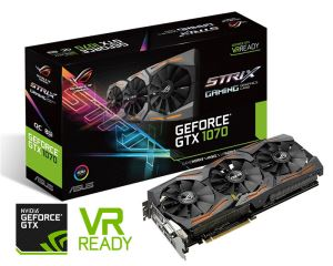 ASUS GeForce GTX 1070 8GB OC Edition ROG Strix Graphics Card