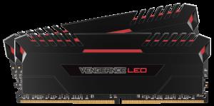 Corsair Vengeance (2x8GB) 16GB DDR4 3000Mhz Desktop RAM - Red LED