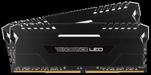 Corsair Vengeance LED 32GB (4x8GB) DDR4 3000MHZ C15 Desktop RAM - White LED