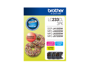 Brother LC-233CL3PK Colour Value Pack 550 Pages