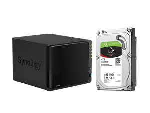 Synology DS416Play NAS + 4 x 2TB Seagate Ironwolf Drive Bundle