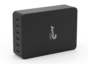 Aerocool ASA USB Charger 50W 6 Port USB Desktop Charger