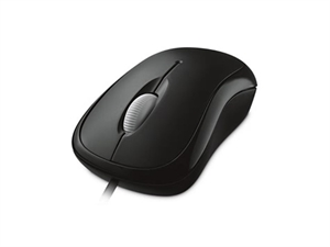 Microsoft Basic Wired Optical Mouse - Black