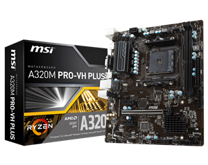 MSI A320M Pro-VH Plus AMD AM4 mATX Motherboard