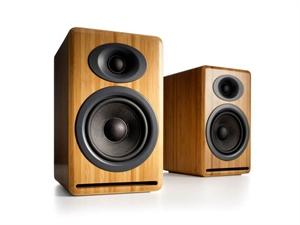 Audioengine P4 Passive Bookshelf Speakers(Pair) - Solid Bamboo