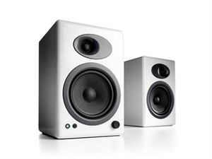 Audioengine 5+ Powered Bookshelf Speakers(Pair) - Hi-Gloss White