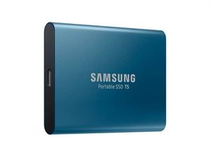 Samsung T5 500GB External Portable SSD - Blue