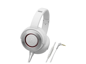 Audio-Technica ATH-WS550iS Over-Ear Solid Bass Headphones - White