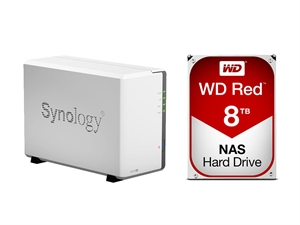Synology 2 Bay DS216SE NAS + 16TB (2 x 8TB) WD Red NAS HDD Bundle