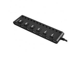 Mbeat 13-Port USB 2.0 Hub Manager with Switches