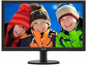 "Philips 243V5QHABA 23.6"" Full-HD LED Desktop Monitor with Speakers"