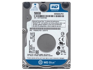 "Western Digital Blue 500GB Internal 2.5"" Laptop Hard Drive - WD5000LPCX"