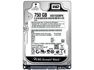 "Western Digital Black 750GB 2.5"" Laptop Hard Drive - WD7500BPKX"