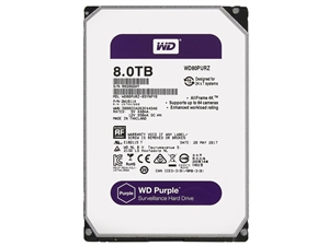 """Western Digital Purple 8TB Internal 3.5"""" Hard Drive - WD80PURZ"""