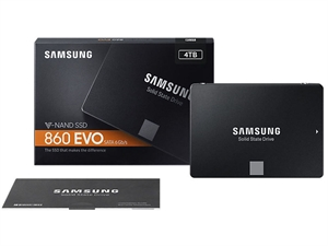 "Samsung 860 EVO 4TB 2.5"" SATA III SSD - MZ-76E4T0BW"
