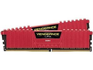 Corsair Vengeance 16GB (2 x 8GB) DDR4 2666MHz Desktop RAM - Red