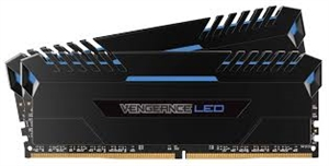 Corsair Vengeance 16GB (2x 8GB) DDR4 3000MHz Desktop RAM - Blue LED