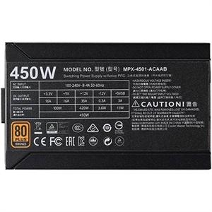 Cooler Master MWE Series 450W 80 Plus Bronze Power Supply