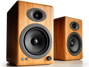Audioengine 5+ Wireless Powered Speakers (pair) - Solid Bamboo