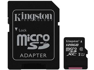 Kingston 128GB Micro SDXC UHS-I Class 10 SD Card