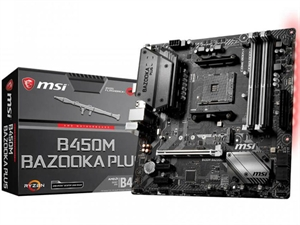MSI B450M Bazooka Plus AM4 mATX Motherboard