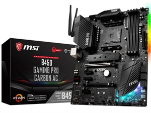 MSI B450 GAMING PRO CARBON AC AM4 ATX Motherboard