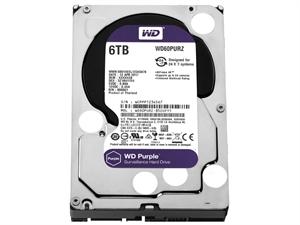 """Western Digital Purple 6TB 3.5"""" Surveillance Hard Drive - WD60PURZ"""