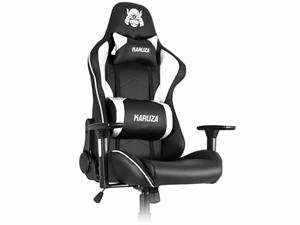 Karuza YX-1216 Gaming Chair - Black/White
