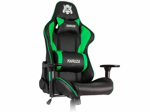 Karuza YX-1216 Gaming Chair - Black/Green