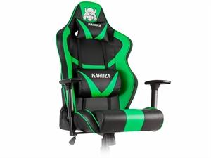 Karuza YX-802 Gaming Chair - Black/Green
