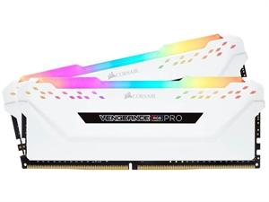 Corsair Vengeance RGB PRO 32GB (2x 16GB) DDR4 2666Mhz Desktop RAM - White