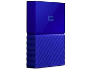 Western Digital WD My Passport 2TB Portable Hard Drive - Blue