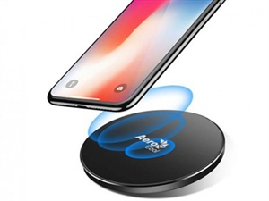 AeroCool Premium Aluminum 7.5W Designed for Apple Wireless Fast Charger - Grey